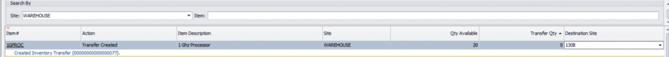 Inventory Transfers