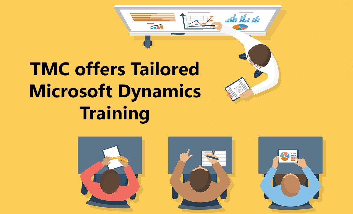 TMC people being trained on Microsoft Dynamics
