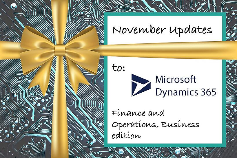 Microsoft Dynamics 365 Finance and Operations Business edition title