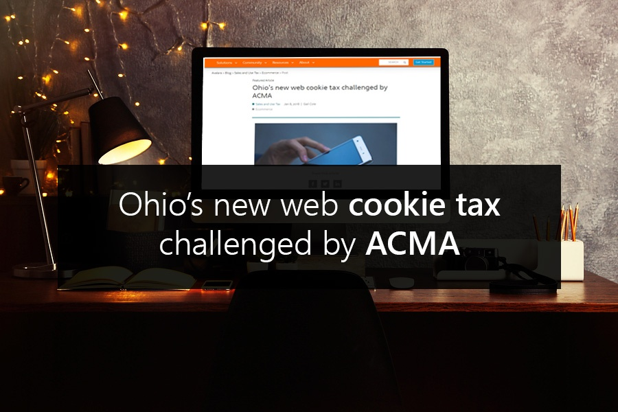 Ohio's new web cookie tax challenged by ACMA