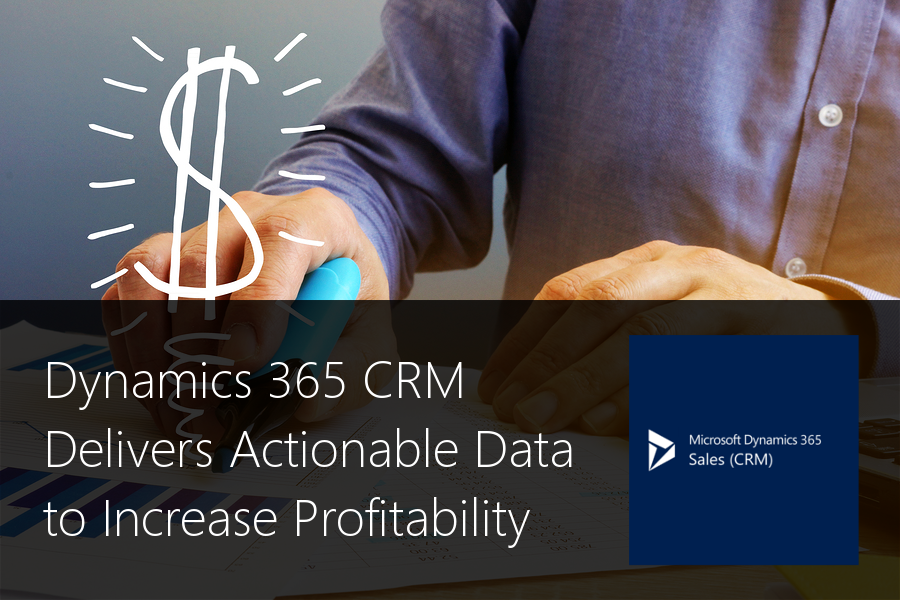 Dynamics 365 CRM Delivers Actionable Data to Increase Profitability