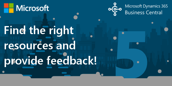 D365 BC F.A.Q. 5 |Find the right resources and provide feedback for Dynamics 365 BC!