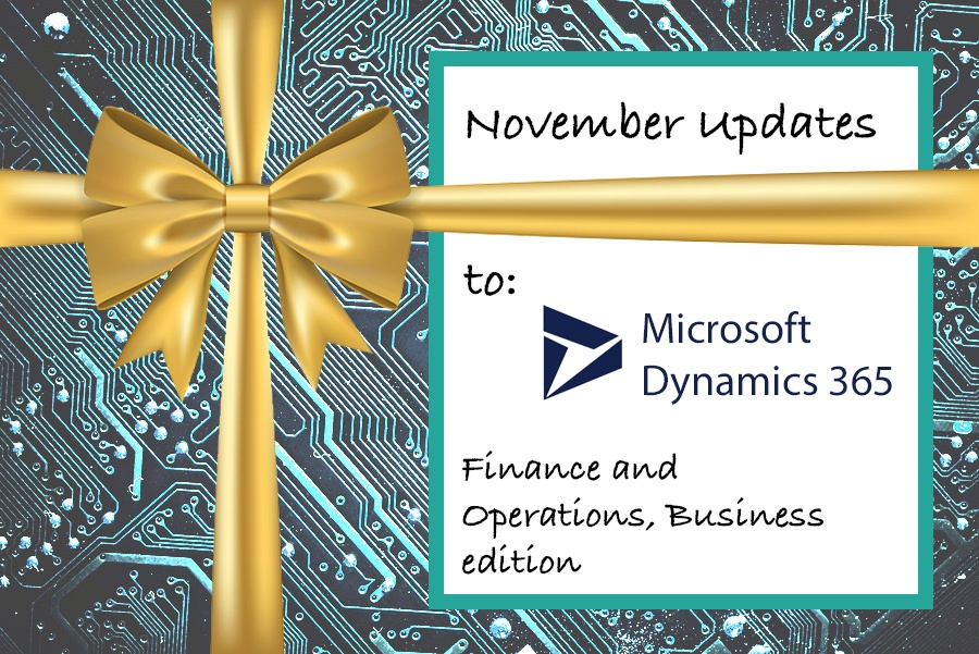 Updated Microsoft Dynamics 365 Finance and Operations Business edition
