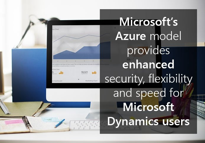 Microsoft's Azure model provides enhanced security, flexibility and speed for Microsoft Dynamics users